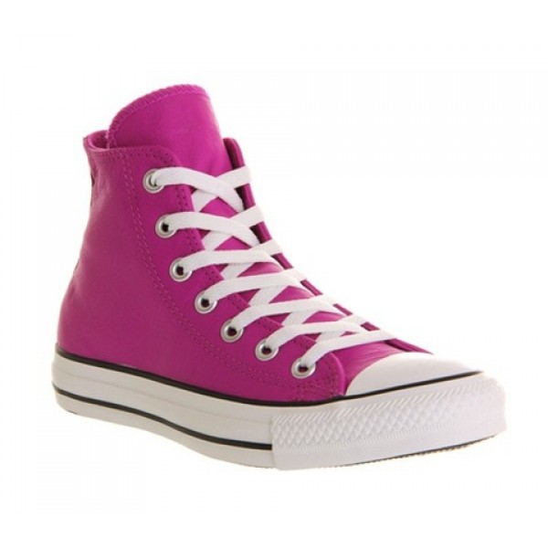 Converse All Star Hi Leather Purple Cactus Flower ...