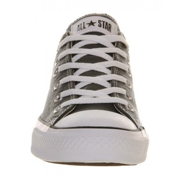 Converse All Star Low Leather Charcoal Leather Women's Shoes