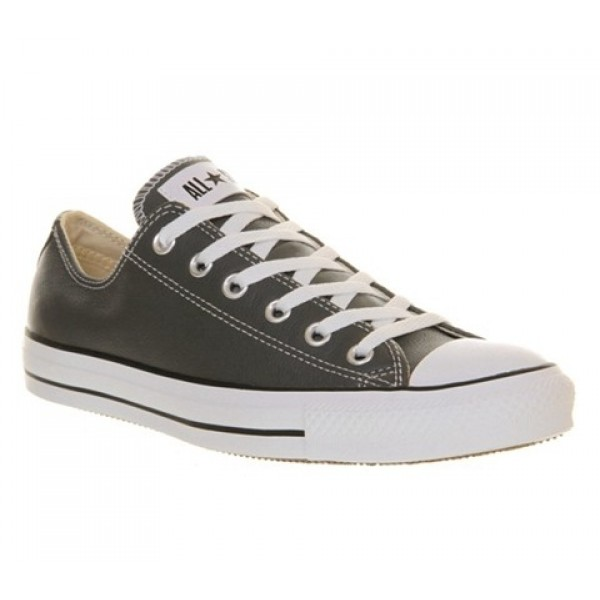Converse All Star Low Leather Charcoal Leather Wom...