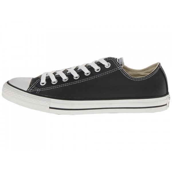 Converse Chuck Taylor All Star Leather Ox Black White Men's Shoes