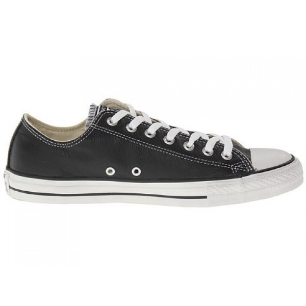 Converse Chuck Taylor All Star Leather Ox Black Wh...