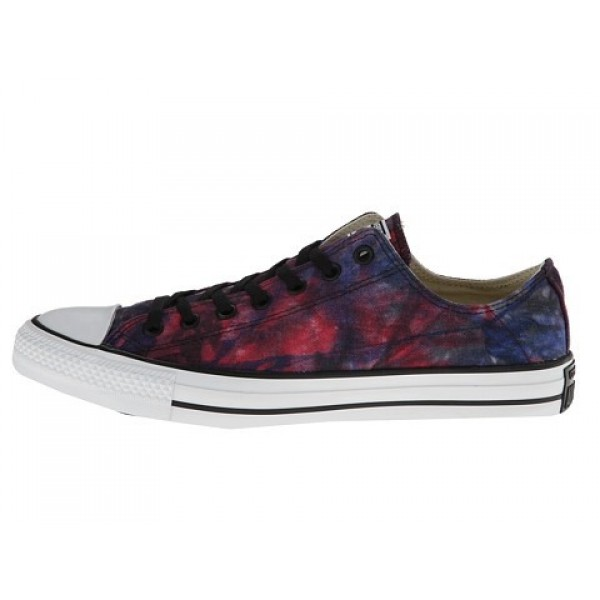 Converse Chuck Taylor All Star Tie Dye Canvas Ox Red Radio Blue Black Men's Shoes