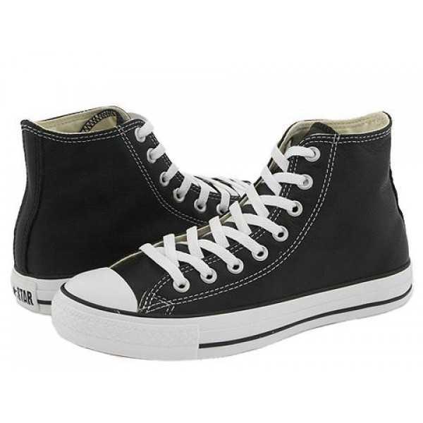 Converse Chuck Taylor All Star Leather Hi Black White Men's Shoes