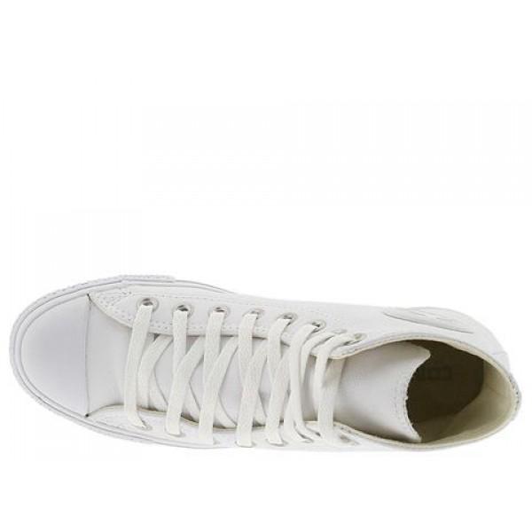 Converse Chuck Taylor All Star Leather Hi White Monochrome Men's Shoes