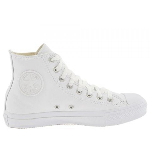 Converse Chuck Taylor All Star Leather Hi White Mo...