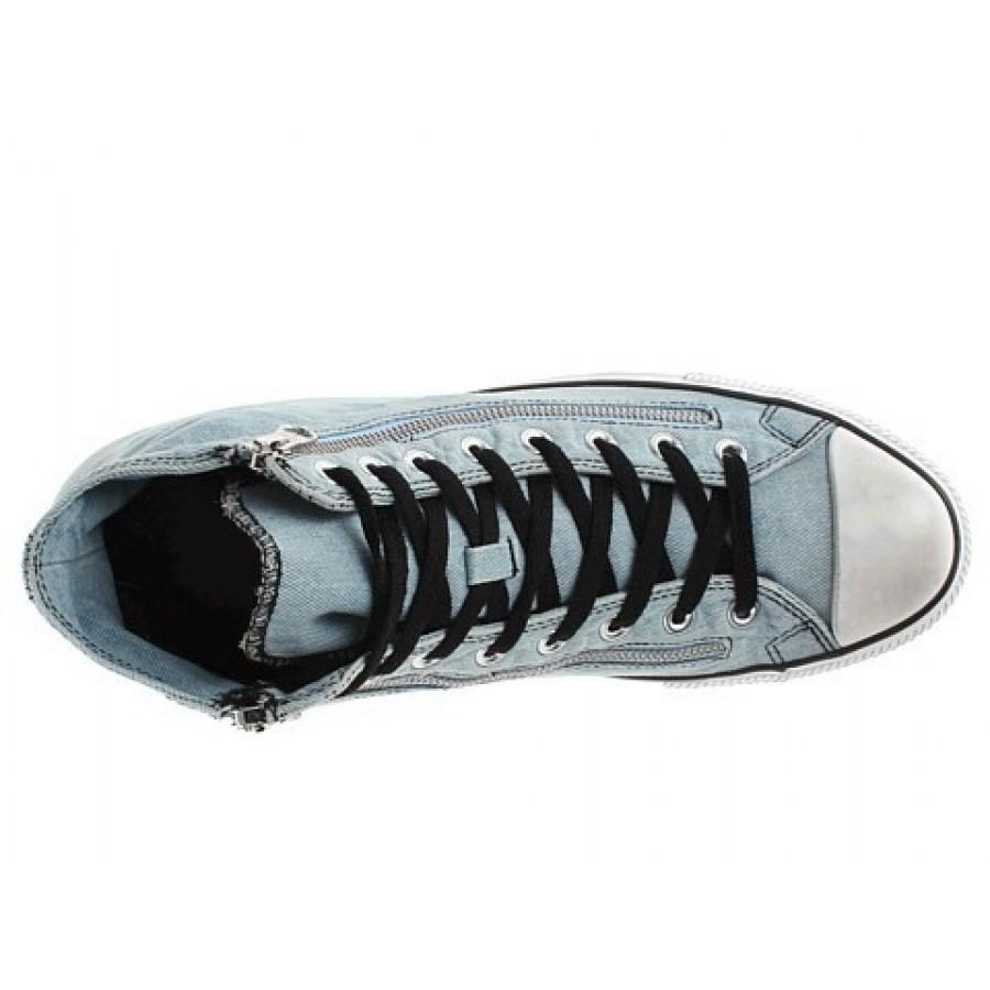 372932896a2a Converse Chuck Taylor All Star Denim Double Zip Hi Light Blue Men s Shoes