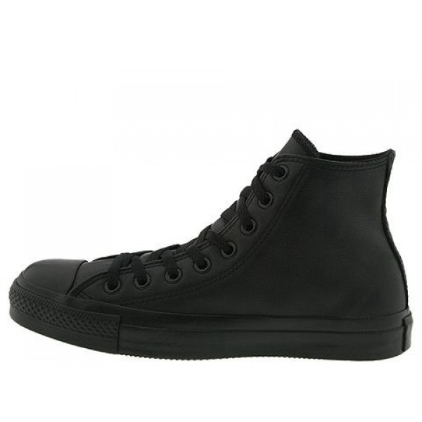 Converse Chuck Taylor All Star Leather Hi Black Monochrome Men's Shoes