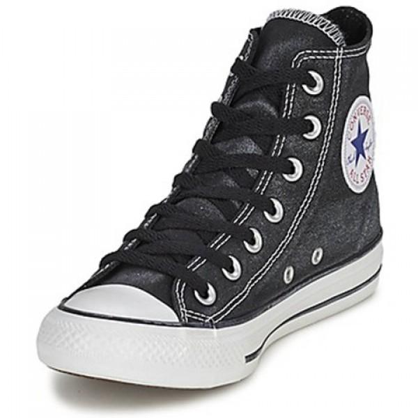 Converse Ctas Sparkle Wash Hi Black Women's Shoes