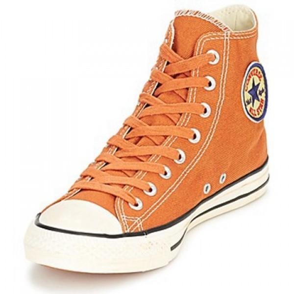 Converse Chuck Taylor Vint Twil Hi Rust Orange Women's Shoes