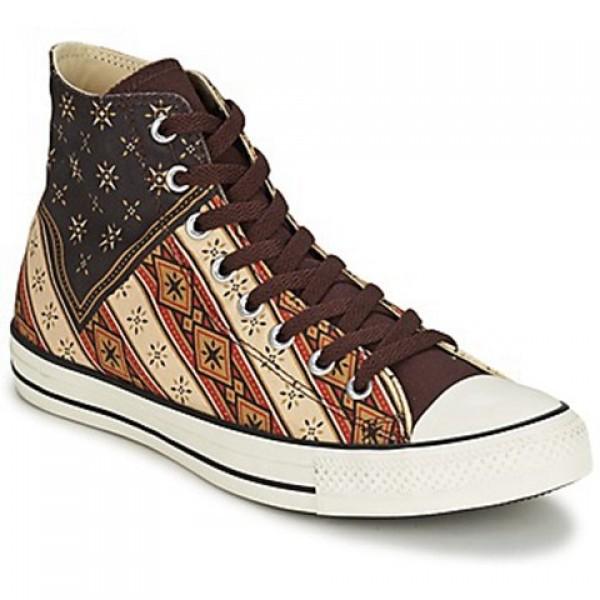 Converse Chuck Taylor Americana Hi Brown Red Brick Women's Shoes