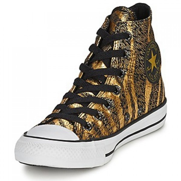 Converse Chuck Taylor Animal Print Black Gold Women's Shoes