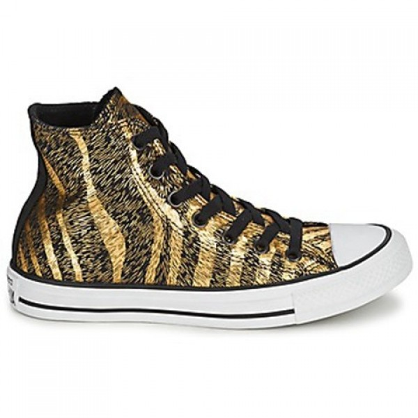 Converse Chuck Taylor Animal Print Black Gold Wome...