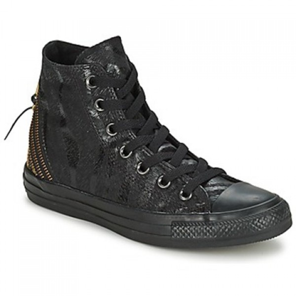 Converse Chuck Taylor Anim Tri Zip Black Gold Women's Shoes