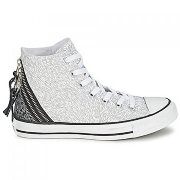 Converse Chuck Taylor Anim Tri Zip White Silver Wo...