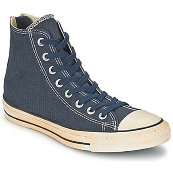 Converse Chuck Taylor Ctas Vintage Washed Back Zip Twill Marine Women's Shoes