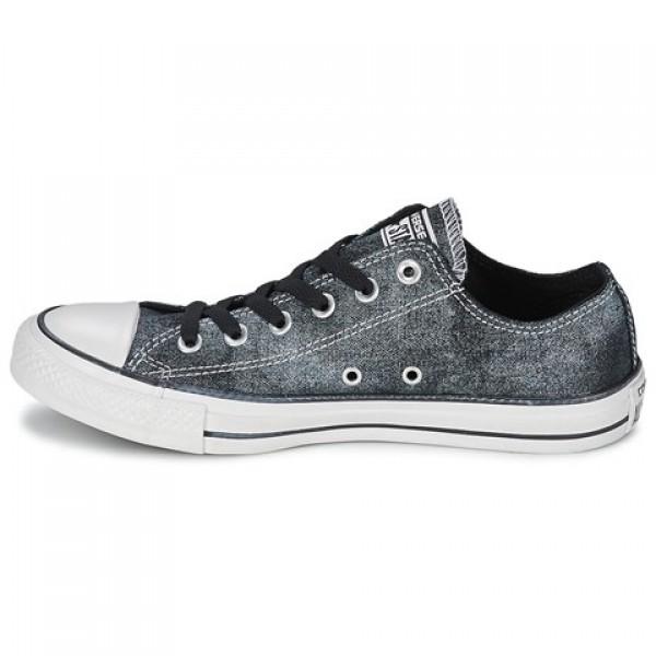 Converse Ctas Sparkle Wash Ox Black Women's Shoes