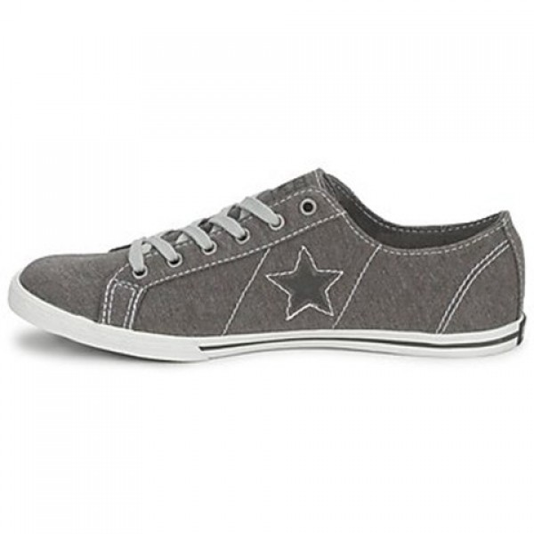 Converse One Star Low Profile Jersey Ox Grey White Women's Shoes