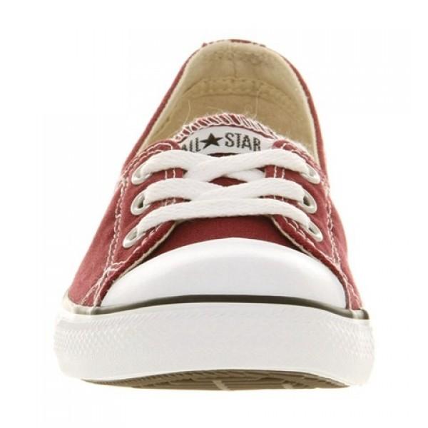 Converse Dance Lace Maroon Cranberry Women's Shoes
