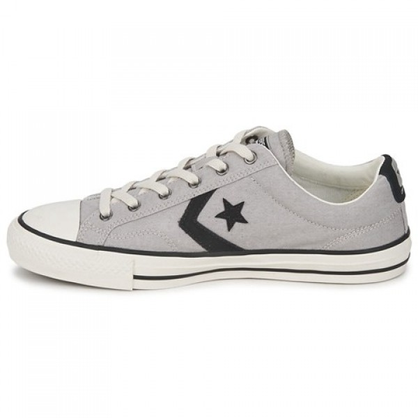 Converse Star Player Ox Grey Clear Black Women's Shoes