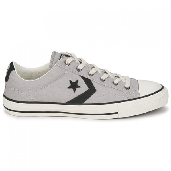 Converse Star Player Ox Grey Clear Black Women's S...