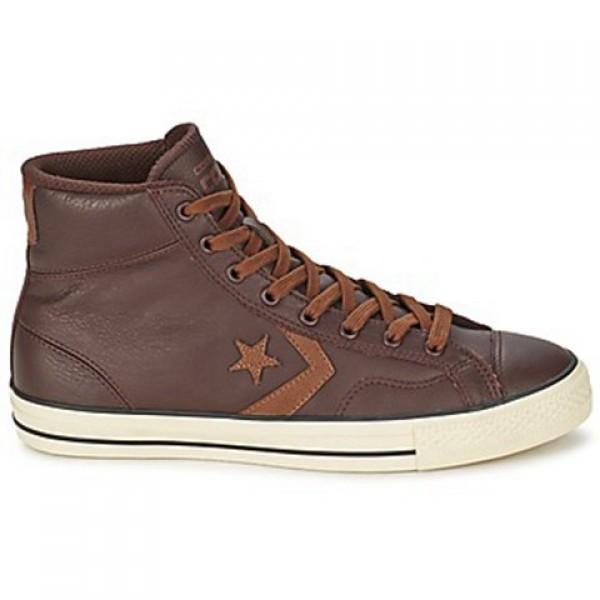 Converse Star Player Tonal Lea Hi Brown Men's Shoe...