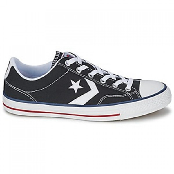Converse Star Player Core Canv Ox Black White Women's Shoes