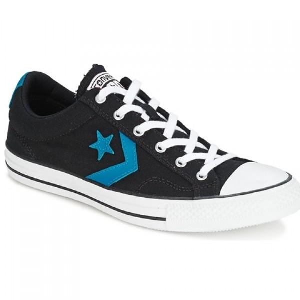 Converse Star Player Ox Black Blue Women's Shoes