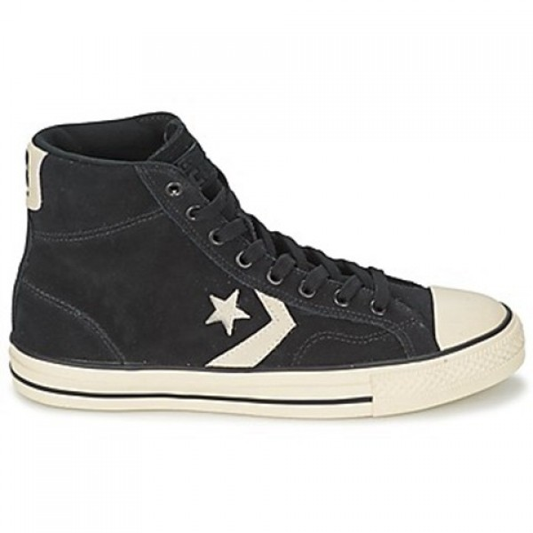 Converse Star Player Suede Hi Black Women's Shoes