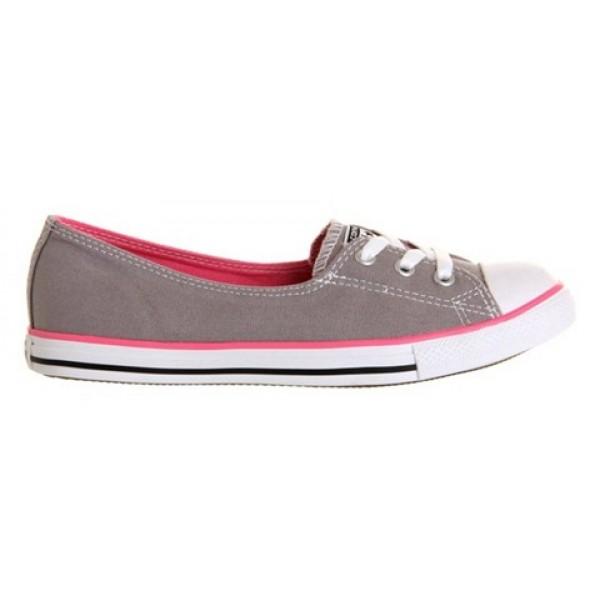 Converse Dance Lace Grey Pink Canvas Women's Shoes