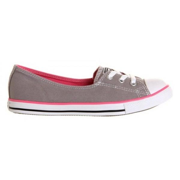 Converse Dance Lace Grey Pink Canvas Women's Shoes