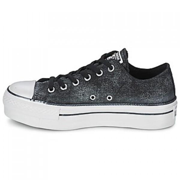 Converse Ctas Sparkle Wash Platform Ox Black Women's Shoes