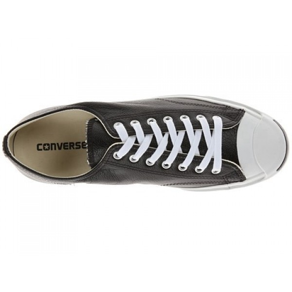 Converse Jack Purcell Leather Black White Men's Shoes