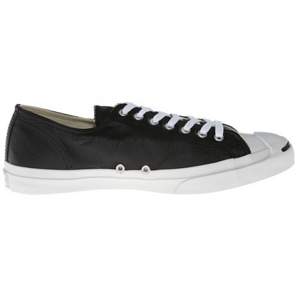 Converse Jack Purcell Leather Black White Men's Sh...