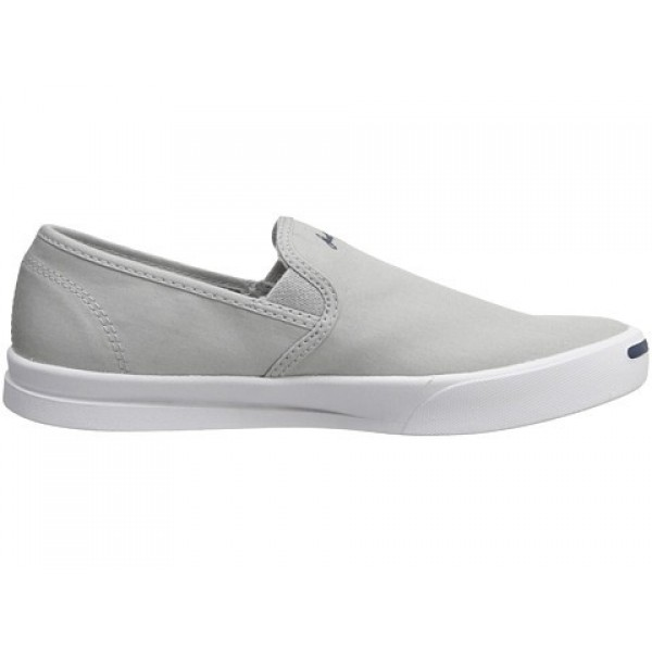 Converse Jack Purcell Jeffrey Slip Oyster Gray White Men's Shoes