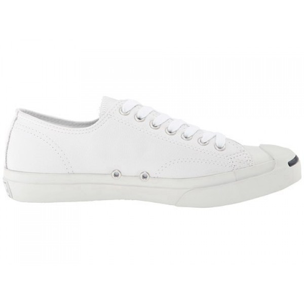 Converse Jack Purcell Leather White Navy Men's Sho...