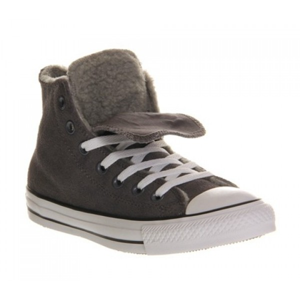 Converse All Star Hi Double Tongue Grey Shearlng Exclusive Women's Shoes