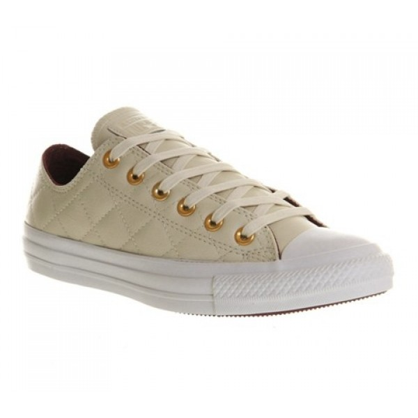 Converse All Star Low Leather Natural Burgundy Qui...