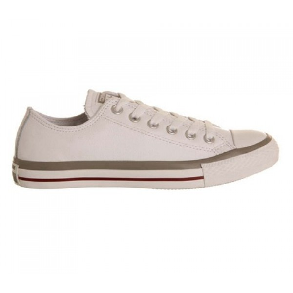 Converse All Star Low Leather White Grey Garnet Exclusive Women's Shoes