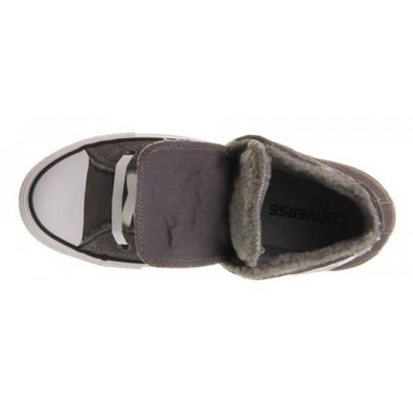 Converse All Star Hi Double Tongue Grey Shearlng Exclusive Women's Shoes