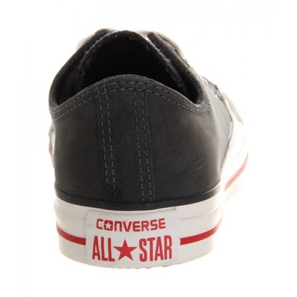 Converse All Star Low Leather Navy Red Exclusive Women's Shoes