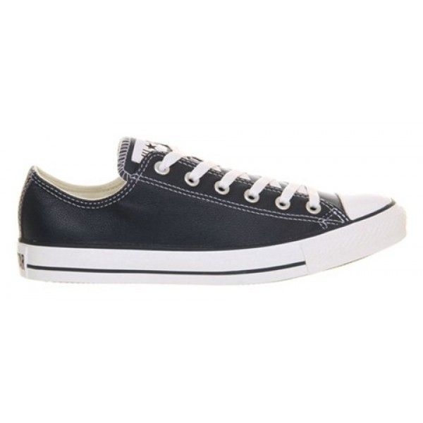 Converse All Star Low Leather Navy Women's Shoes