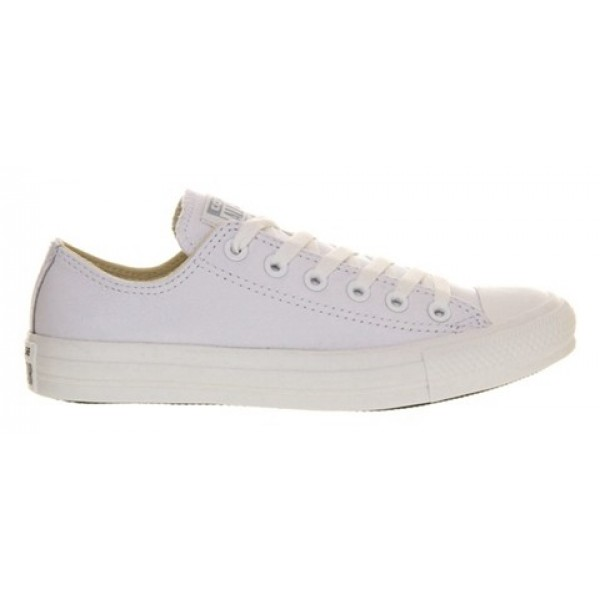 Converse All Star Low White Mono Leather Women's Shoes