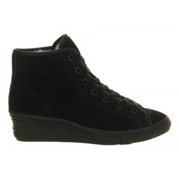 Converse All Star Hi-Ness Black Mono Shearling Women's Shoes