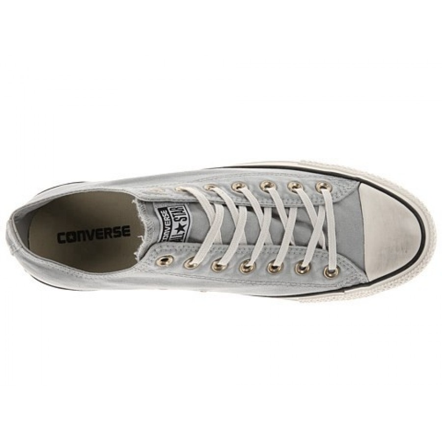 Converse Chuck Taylor All Star Washed Canvas Ox Oyster Gray