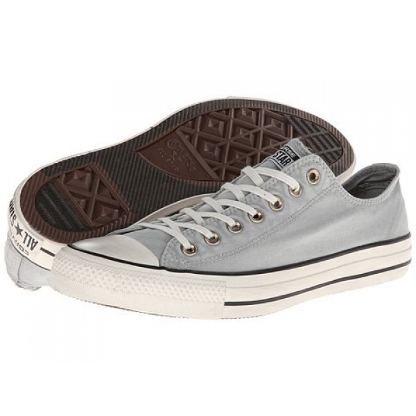 Converse Chuck Taylor All Star Washed Canvas Ox Oyster Gray Men's Shoes