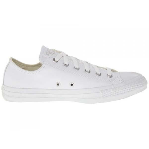 Converse Chuck Taylor All Star Leather Ox White Monochrome Men's Shoes