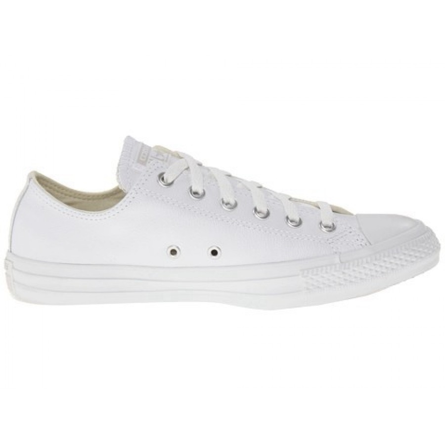 18cf83ba5a11 Converse Chuck Taylor All Star Leather Ox White Monochrome Men s Shoes