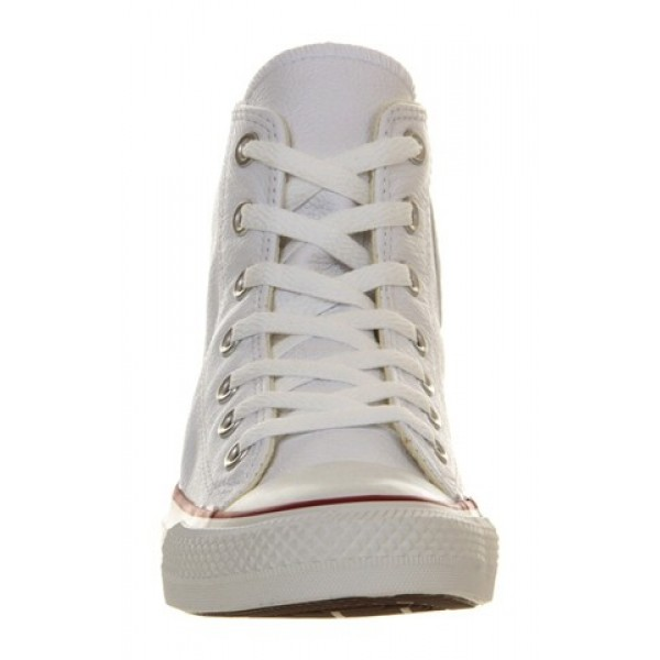 Converse Ctas Back Zip White Leather Exclusive Unisex Shoes