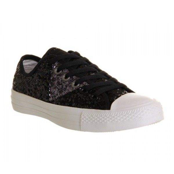 Converse Ctas Ox Multi Panel Black Grey Sequin Uni...