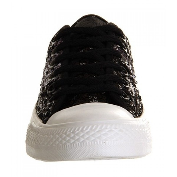 Converse Ctas Ox Multi Panel Black Grey Sequin Unisex Shoes